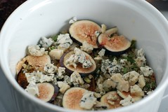 Baked Eggs with Sage, Figs, Blue Cheese, and Rosemary