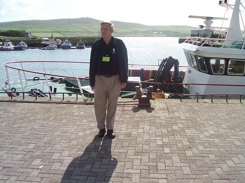 Ireland - Bob at Dingle harbor