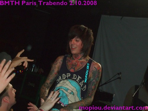 BMTH live PARIS TRABENDO 02.10.2008 bring me the horizon concert