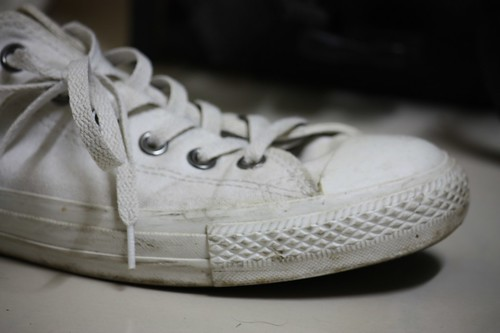 my converse (all white) by air maxx.