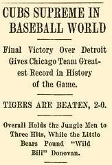 Cubs Supreme In Baseball World