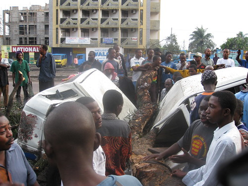 Kinshasa taxi accident