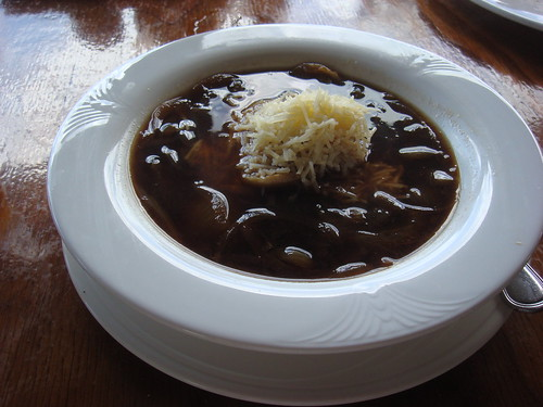 Onion soup at Kula Lodge in East Maui Hawaii U.S.A.