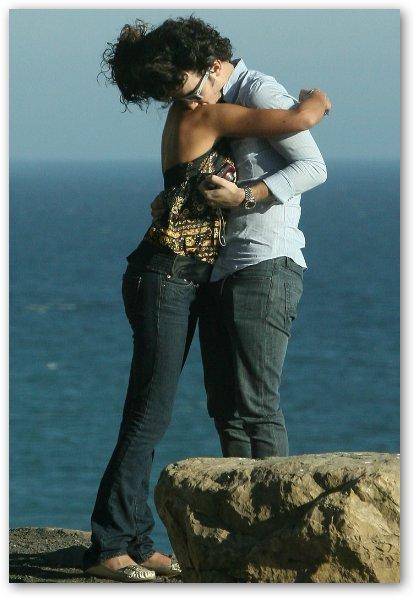 Danielle Deleasa Hugs Kevin Jonas
