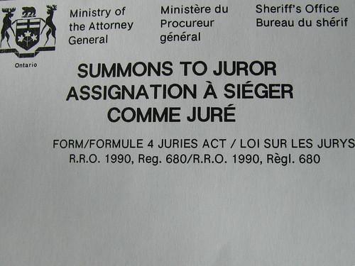 Summons to Juror