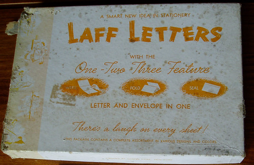 Laff Letters vintage WWII stationery box