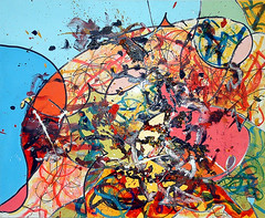 Motorcar Painting By Random No.2 (markchadwickart) Tags: blue wild abstract color colour art car yellow contrast painting toy paint artist acrylic power control random mark brush tools marks oil remote medium chance choice colourful resin gesture shape making decision drill chadwick brushstroke colourartaward sharingart