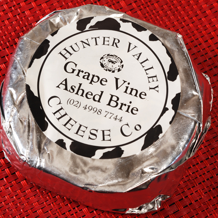 hunter valley cheese grape vine ashed brie© by Haalo