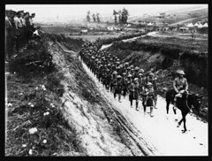 Highland Regiment on its way to the trenches (National Library of Scotland) Tags: army march scotland general library wwi scottish rifles trench highland worldwari worldwarone soldiers british ww1 douglas sir kilts greatwar firstworldwar troops helmets worldwar1 regiment highlanders haig nls hourse thegreatwar nationallibraryofscotland 19141918 highlandregiment nls:dodprojectid=74462370 organization:library=nationallibraryofscotland owner:name=nationallibraryofscotland nls:source=solrxml nls:dodid=74546798 nls:derivative=74301001