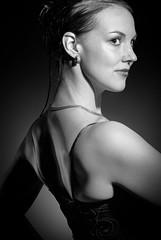 Anki 1 (Johan Lindqvist Fotografi) Tags: portrait blackandwhite bw woman eye girl beauty neck back model nikon women sweden profile models ear d200 shoulder eksjö johanlindqvist smålandjönköpingslän
