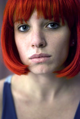 her name was lola (112/365) (bex finch) Tags: red 50mm lola alterego wig 365 f18 striking seductive vixen fgr wellusually ilookabitcrap feelabitcrap soimexcused