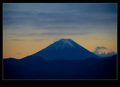 Mr. Fuji (TheJbot) Tags: sunset mountain japan clouds japanese fuji  jbot lightroom supershot  elitephotography thejbot