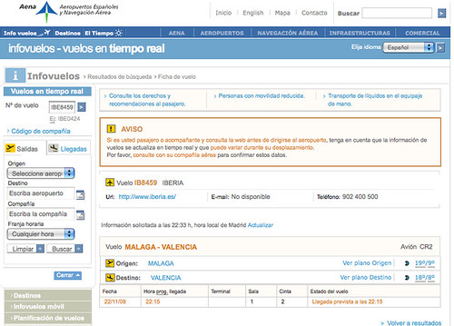 captura web AENA