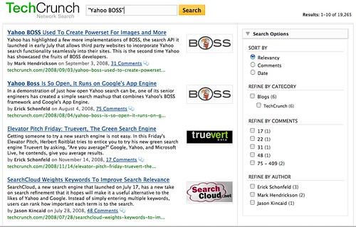 Yahoo! BOSS TechCrunch