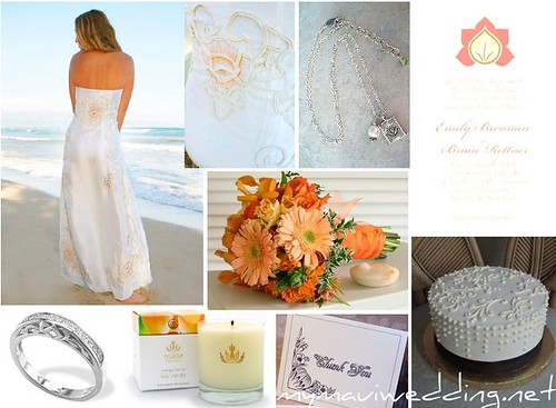 the peach lotus wedding inspiration board