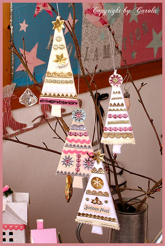 Pretty little felt trees
