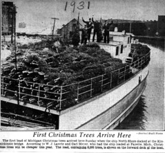 Christmas trees arrive in Bay View 1931