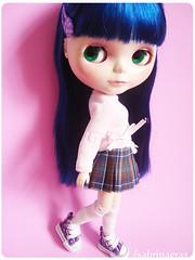 Maysha (Sabrina Eras) Tags: bigeyes blythe custom bluehair plasticdoll cancancat