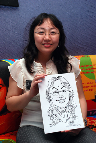 Caricature live sketching for Dow Jones 9