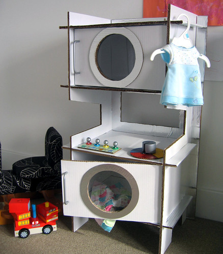 Toy Cardboard Washer and Dryer