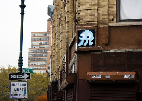 space invader, art district