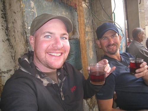 Drinking tea in Islamic Cairo with Tim (UK)