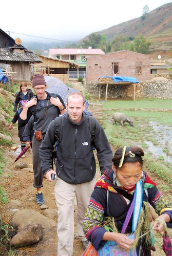 trekking through ta van village