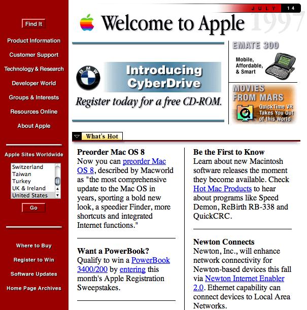 Apple site 1997