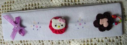 Faixa de cabelo branco Hello Kitty - Ref.24/09