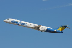 N877GA MD-82 Allegiant Airlines (eigjb) Tags: california airplane la aircraft lax dc9 mcdonnelldouglas losangelesinternationalairport md80 md82 klax allegiantair n877ga