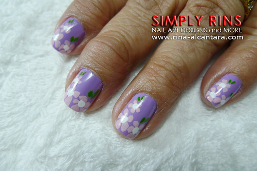 Nail Art Butterfly and Flowers 01
