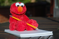 Elmo Does Homework!!!