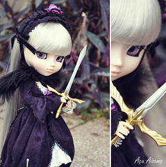 Dark Angel *DDW22/52* (Au Aizawa) Tags: anime dark japanese wings purple manga sword pullip fashiondoll suigintou rozenmainde