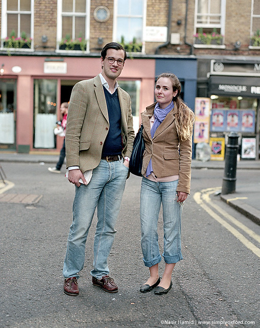 Couple standing on a London street