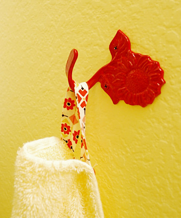 red towel hook