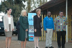 Dr. Jill Biden at Maptela Day Care Centre, a USAID/PEPFAR-supported day care center for orphans and vulnerable children in Soweto (USAID Southern Africa) Tags: africa usaid aids hiv southern aid development kami soweto hivaids ovc biden street care pepfar mapetla