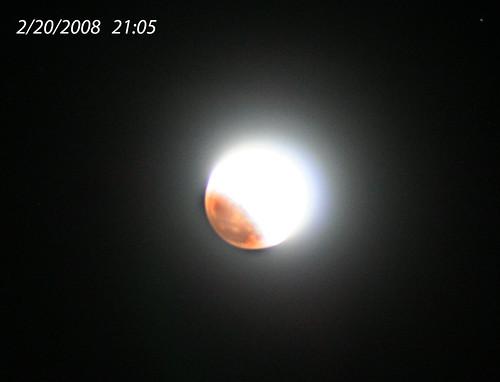 Lunar eclipse begins