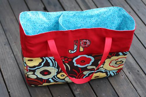 JP's tote bag, interior