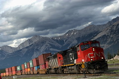 Trans Canada Train - Jasper - Canada ({ Planet Adventure }) Tags: holiday canada photography photo interesting jasper photographer ab adventure planet allrightsreserved jaspernationalpark interessante digitalphotography holidayphotos canadianrockies stumbleupon copyright travelguide digitalworld intrepidtraveler traveltheworld planetadventure colorfulworld worldexplorer by{planetadventure} byalessandrobehling intrepidtravel alessandrobehling stumbleit topphotography holidayphotography alessandrobehling copyright20002008alessandroabehling colorfulearth photographyhunter photographyisgreatfun