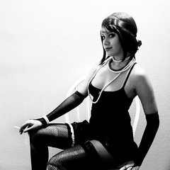 Week 9 - But I can't do it alone. (xelia.) Tags: 1920s bw vintage cigarette 952 52weeks velmakelly