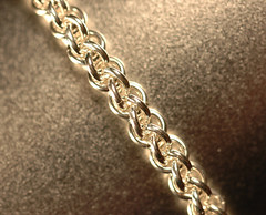 Jens Pind chain maille bracelet (small) (cMaille) Tags: macro metal silver shiny handmade craft jewelry bracelet handcrafted etsy chainmail maille chainmaille jumpring jenspind cmaille