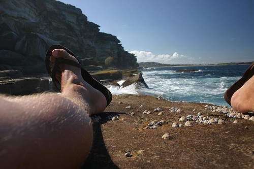 A Leg & A View. North Curl Curl.