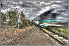 Stazione abbandonata di S.Bernardino - Long train running (Funky64 (www.lucarossato.com)) Tags: sky cloud blur abandoned station rural train nuvole rusty blurred piemonte cielo velocity stazione treno crusty hdr velocit binari abbandono abbandonato golddragon aplusphoto diamondclassphotographer flickrdiamond lucarossato funky64 dwcffmotion