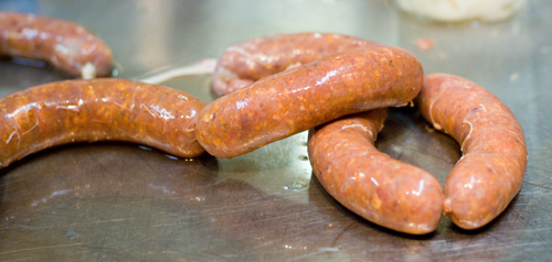 Our finished chorizo
