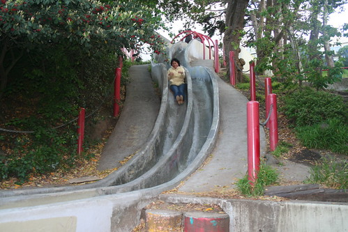 grace on the slide