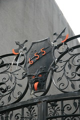 655 (Doug D) Tags: new york city nyc red black face construction eyes mask guesswherenyc number domestic ax homeof ytfguessed