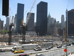 ground zero. (woemcats) Tags: newyorkcity newyork construction worldtradecenter 911 september11 groundzero freedomtower