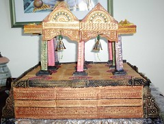Temple front view (Kavitharani55) Tags: sculpture ceramic temple paint acrylic pottery handbuilt