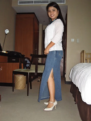 Long Denim Skirt (johnerly03) Tags: fashion asian philippines skirt denim filipina erly