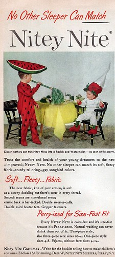 kids' nightwear ad 1950s